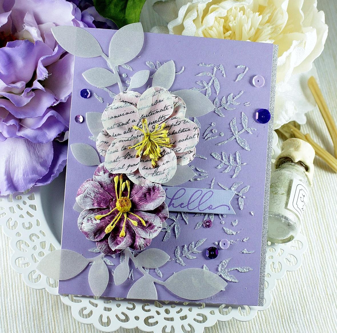 c4c 18 purple leaves n flowers